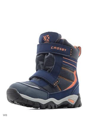 Полусапожки Crosby. Цвет: темно-синий, оранжевый