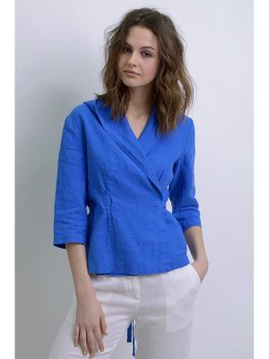 Блуза Дельфина LINO RUSSO. Цвет: синий