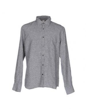 Pубашка 120% LINO. Цвет: черный