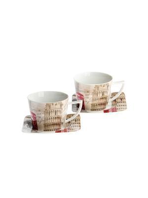 Набор чайный 4 предмета 220 мл PATRICIA. Цвет: светло-бежевый