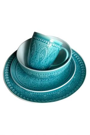 Набор посуды 4 предмета TONGO. Цвет: голубой