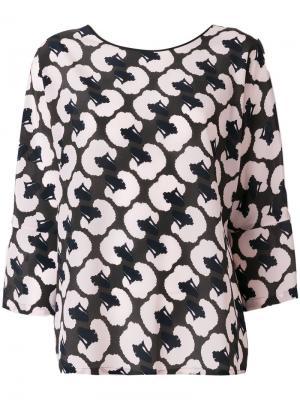 Блузка с принтом Odeeh. Цвет: многоцветный