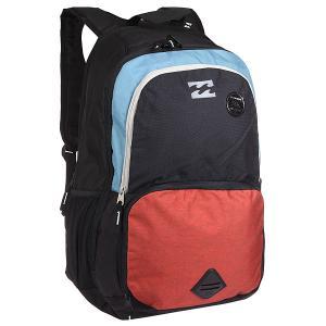 Рюкзак школьный  Strike Thru Backpack Coral Billabong. Цвет: черный,оранжевый,голубой