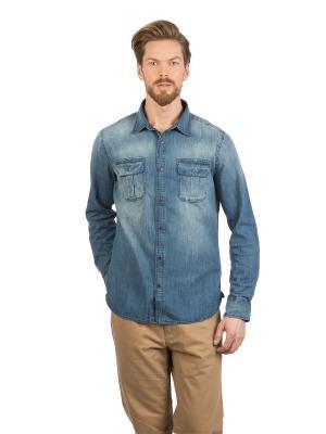 Рубашка Colin's. Цвет: синий
