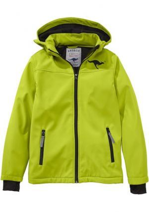 Куртка Kangaroos. Цвет: желто-зеленый