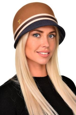 Шляпа Tonak. Цвет: бежевый, серо-голубой
