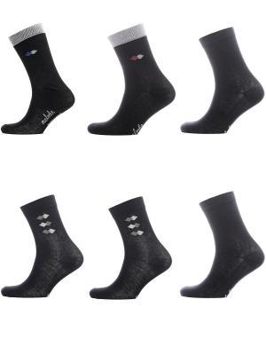 Носки Мужские, комплект 6пар Malerba. Цвет: черный