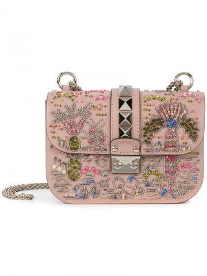 Декорированная сумка через плечо  Garavani Valentino. Цвет: телесный