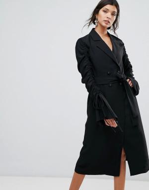 C/meo Collective Платье-тренч. Цвет: черный