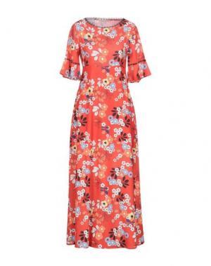 Длинное платье PAOLO CASALINI. Цвет: красный