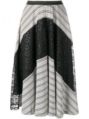 Юбка с кружевом Antonio Marras. Цвет: чёрный