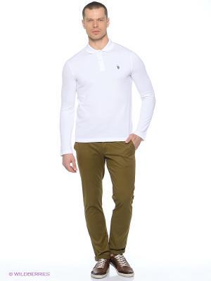 Лонгслив U.S. Polo Assn.. Цвет: белый