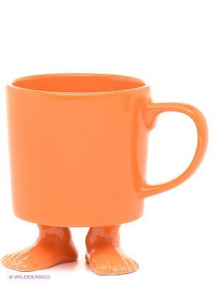 Кружка на ножках Efeet Collection. Цвет: оранжевый