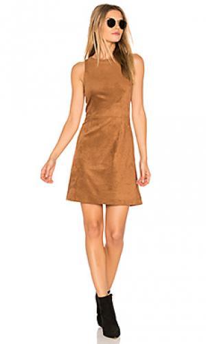 Платье savi cupcakes and cashmere. Цвет: коричневый