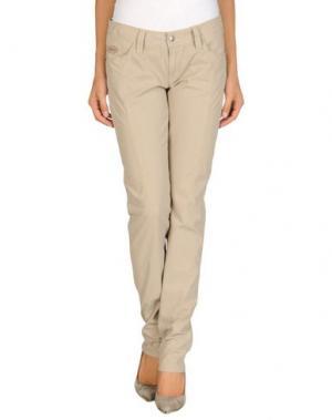 Повседневные брюки CHIRIBIRI. Цвет: бежевый