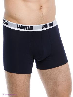 Трусы Puma Basic Shortboxer 2P. Цвет: синий