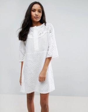 MiH Jeans Свободное платье Amo. Цвет: белый
