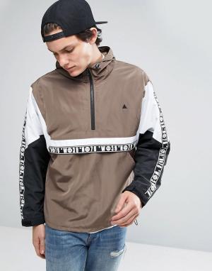 ASOS Куртка со вставками. Цвет: коричневый