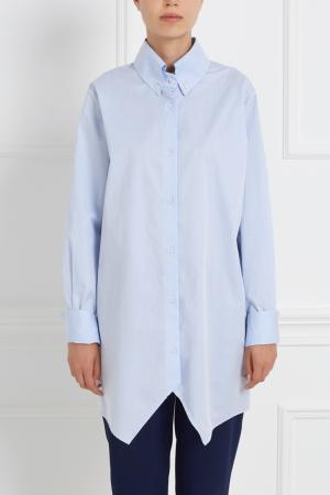 Хлопковая рубашка Tokyo MoS. Цвет: голубой