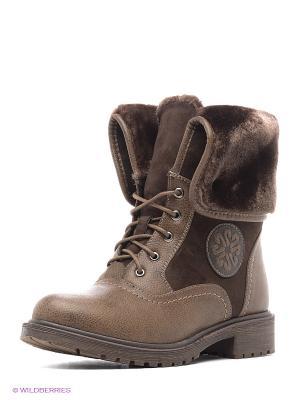 Ботинки Daze. Цвет: темно-коричневый