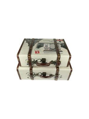 Набор сундучков из 2-х штук Русские подарки. Цвет: бежевый