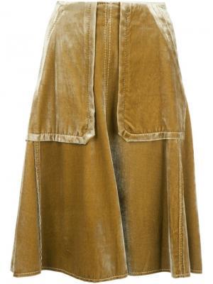 Юбка с накладными карманами Dorothee Schumacher. Цвет: жёлтый и оранжевый