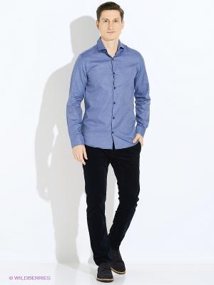 Рубашка Jack&Jones. Цвет: синий