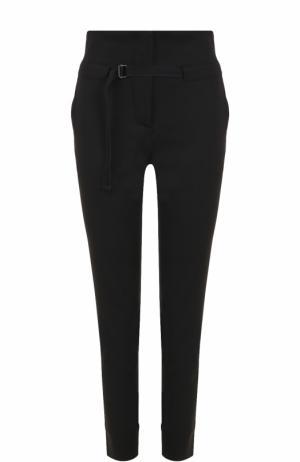 Укороченные брюки прямого кроя с поясом Isabel Benenato. Цвет: черный