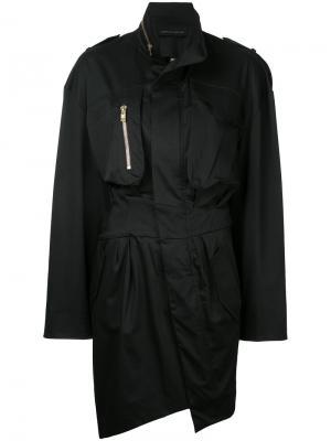 Платье-рубашка на молнии Alexandre Vauthier. Цвет: чёрный