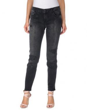 Джинсовые брюки REBEL QUEEN. Цвет: стальной серый
