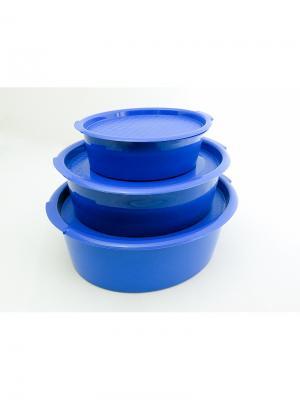 Solaris S1301 набор пищевых контейнеров 3 шт.. Цвет: синий