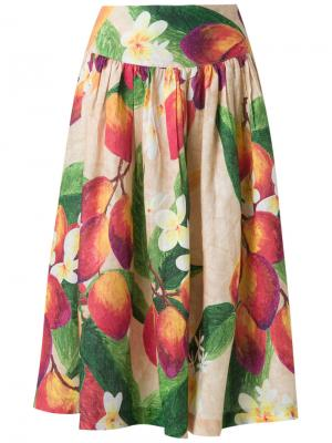 Flared midi skirt Isolda. Цвет: многоцветный