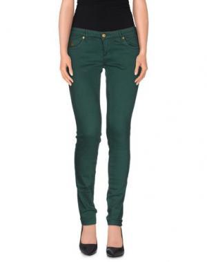 Джинсовые брюки DUCK FARM. Цвет: изумрудно-зеленый
