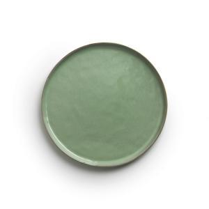 Комплект из 4 тарелок керамики, Ø21,5 см, PURE, дизайн П. Нессенса для Serax AM.PM.. Цвет: зеленый/темно-зеленый
