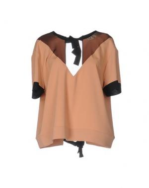Блузка TILL.DA. Цвет: песочный