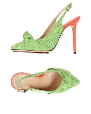 Туфли CHARLOTTE OLYMPIA. Цвет: кислотно-зеленый