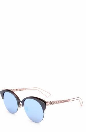 Солнцезащитные очки Dior. Цвет: голубой