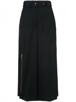Belted wide leg culottes Proenza Schouler. Цвет: чёрный
