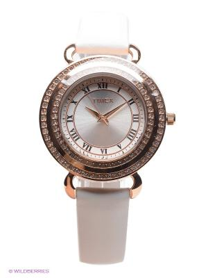 Часы TIMEX. Цвет: белый, золотистый