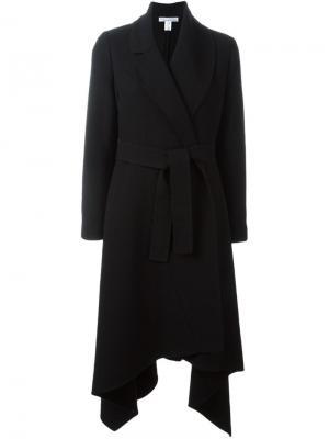 Пальто асимметричного кроя Oscar de la Renta. Цвет: чёрный