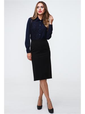 Блузка MARY MEA. Цвет: темно-синий
