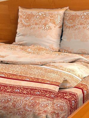 Комплект постельного белья Letto B97-3, бязь, 1,5-сп. Цвет: бежевый
