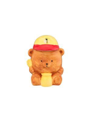 Горшочек для меда Медвежонок Elan Gallery. Цвет: желтый, светло-коричневый, красный