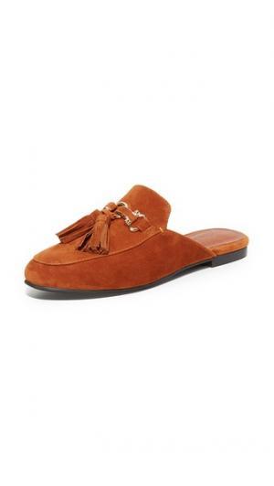 Туфли без задника Apfel с кисточками Jeffrey Campbell. Цвет: темно-бежевый/золотистый