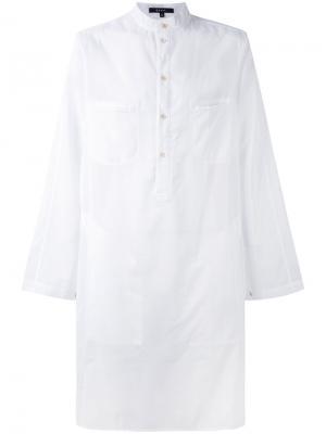 Рубашка-туника Misawa Qasimi. Цвет: белый