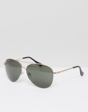 AJ Morgan Золотистые солнцезащитные очки‑авиаторы. Цвет: золотой