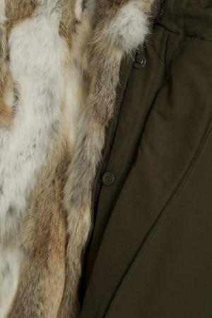 Зеленая парка Eskimo Canadian. Цвет: зеленый