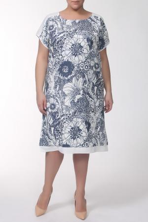 Платье QNEEL Q'NEEL. Цвет: молочный, синий