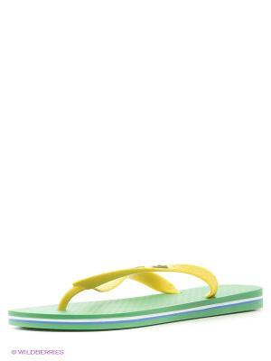 Шлепанцы Ipanema. Цвет: зеленый, желтый