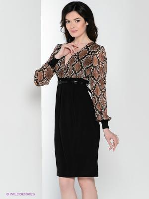 Платье Hammond. Цвет: черный, коричневый, бежевый